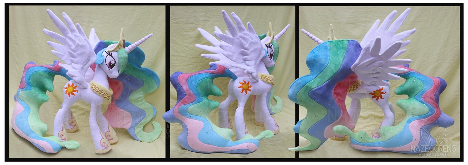 Princess Celestia Custom Plush by Nazegoreng