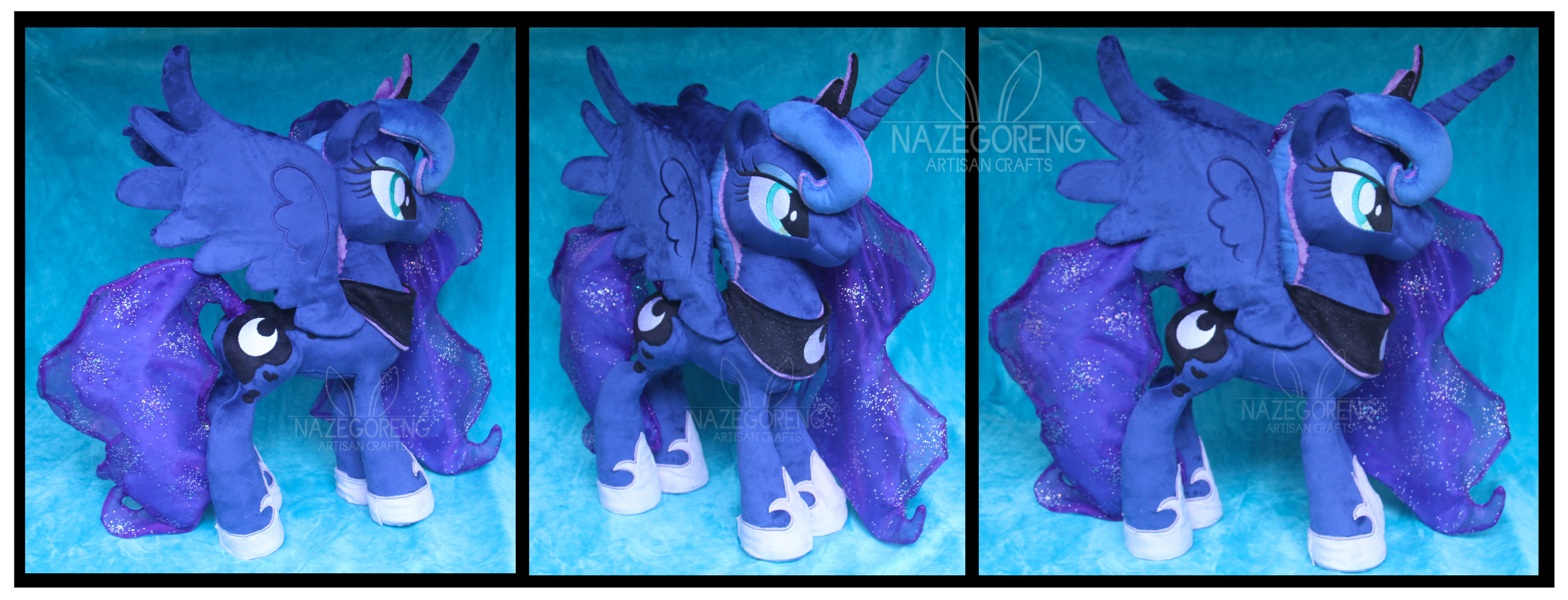 S2 Princess Luna Custom Plush by Nazegoreng