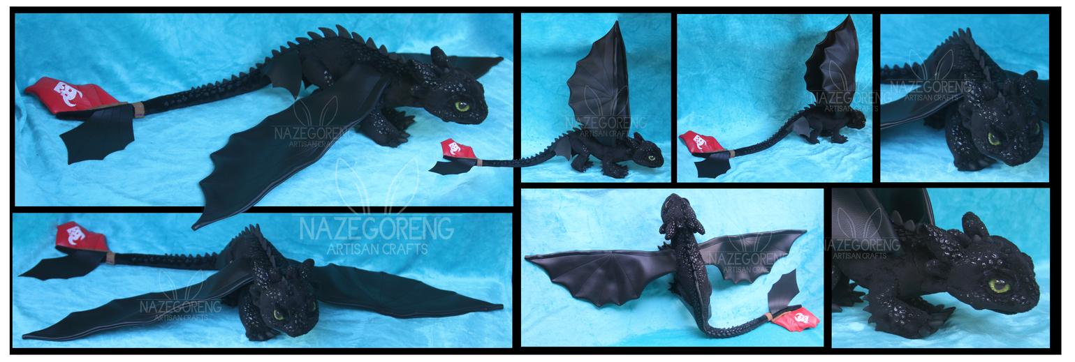 Toothless Custom Plush by Nazegoreng