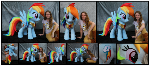 Lifesize Rainbow Dash Custom Plush by Nazegoreng