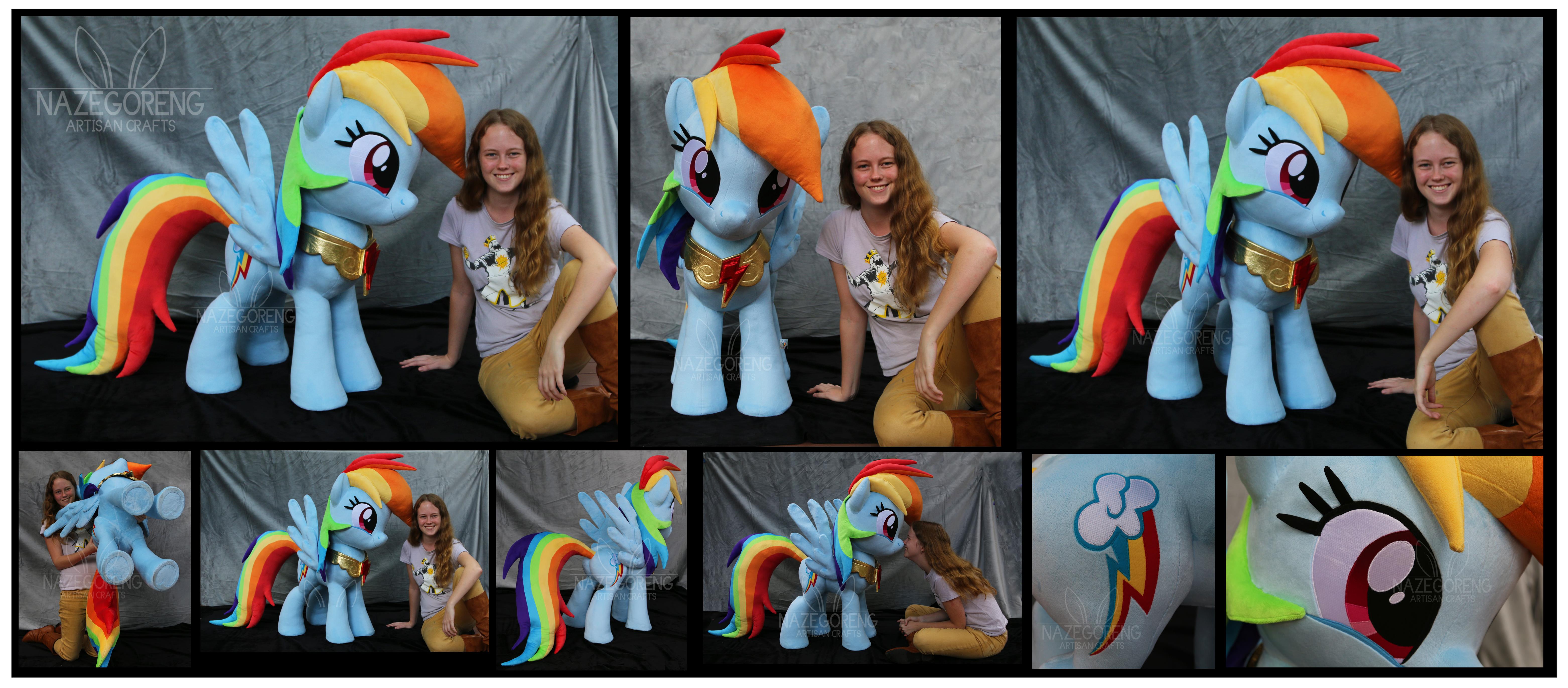 Lifesize Rainbow Dash Custom Plush