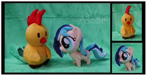 Sapphire Breeze and Chirpy Chi Custom Plushes