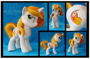 Pyra Blaze OC Custom Plush by Nazegoreng