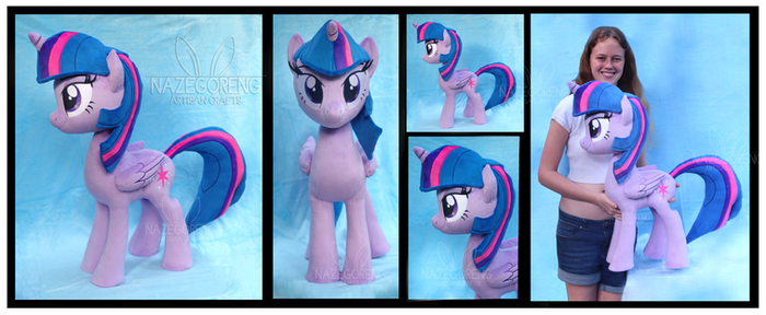 Cuddle Size Twilight Sparkle Custom Plush