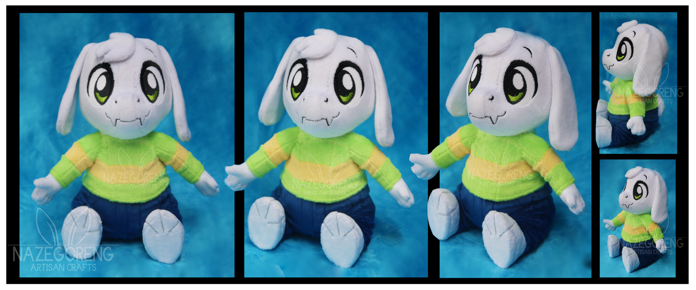 Asriel Dreemurr Custom Plush by Nazegoreng