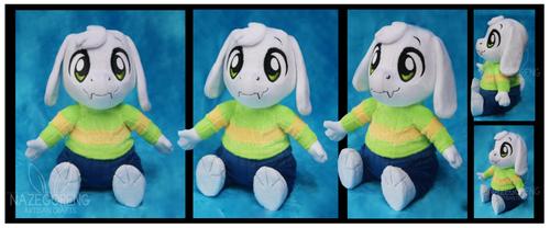 Asriel Dreemurr Custom Plush by Nazegoreng