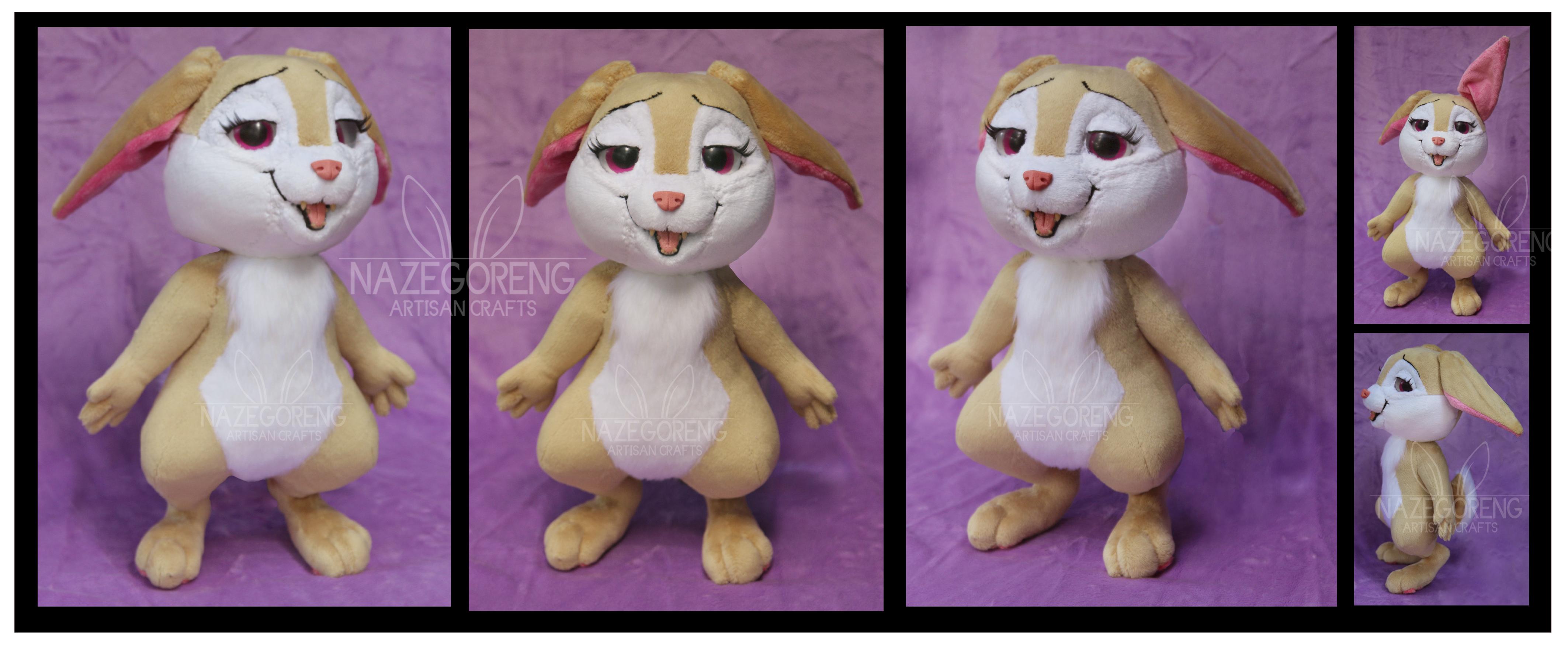 Carrot Bunny Custom Plush by Nazegoreng