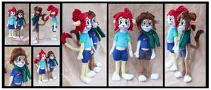 Angie and Jack Custom Anthro plush by Nazegoreng