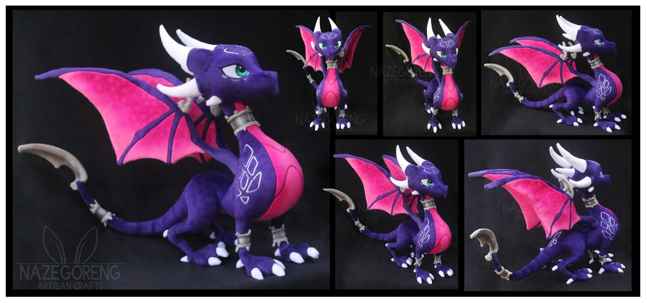 cynder the dragon custom plush by nazegoreng on deviantart