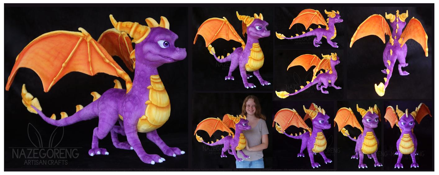 Spyro The Dragon Custom Plush by Nazegoreng