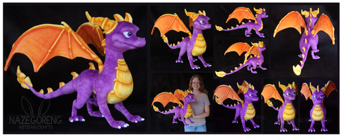 Spyro The Dragon Custom Plush by Nazegoreng