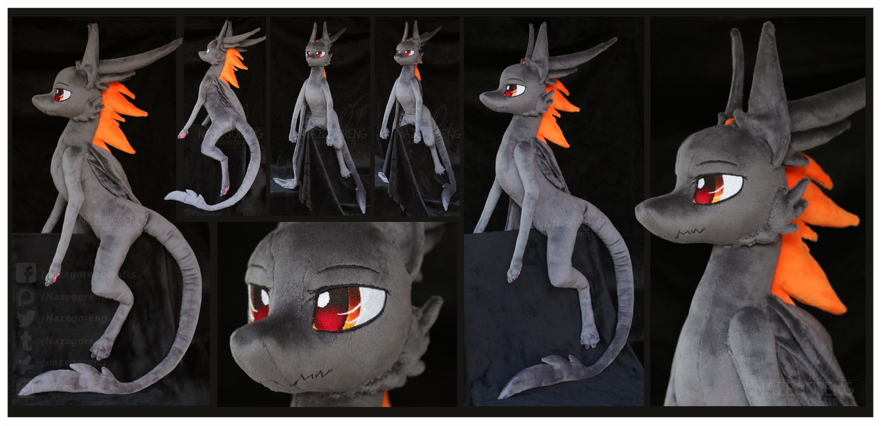 Amber the Dragon Custom Plush by Nazegoreng