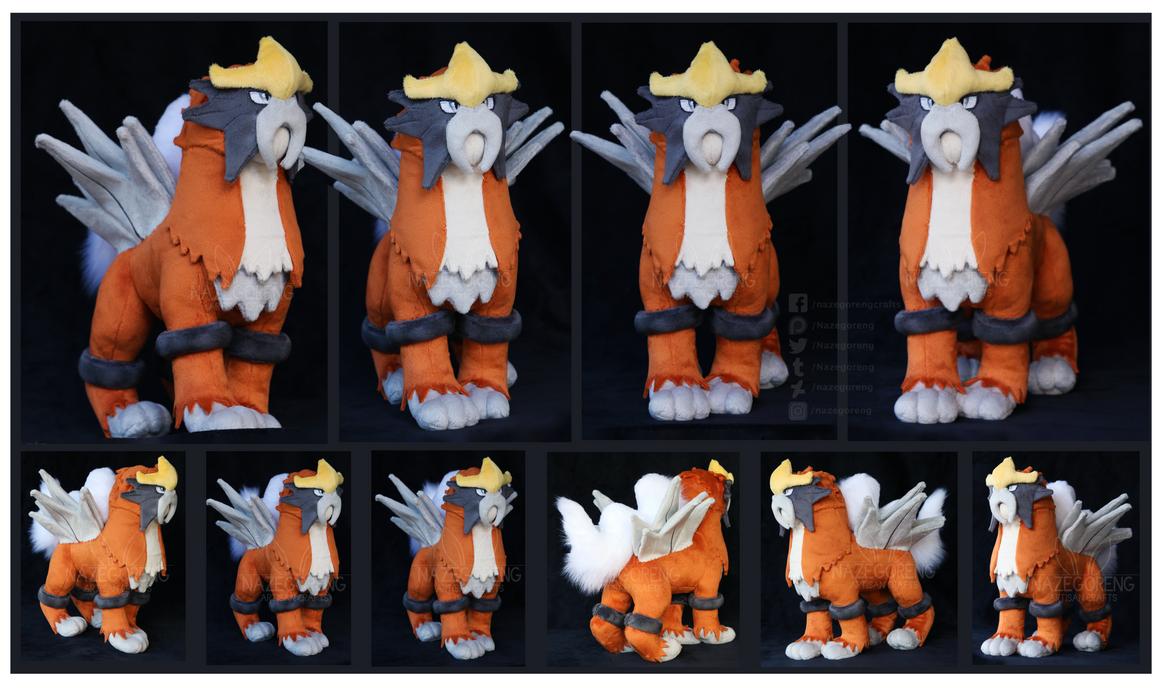 Shiny Entei Custom Plush by Nazegoreng