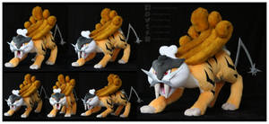 Shiny Raikou Custom Plush by Nazegoreng