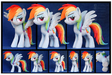 Movie style Rainbow Dash Custom Plush