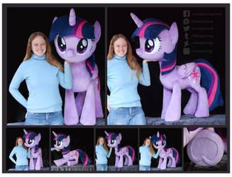 Twilight Sparkle Lifesize Custom Plush by Nazegoreng