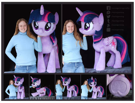 Twilight Sparkle Lifesize Custom Plush