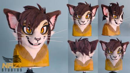 Wickle the Cat - Fursuit head