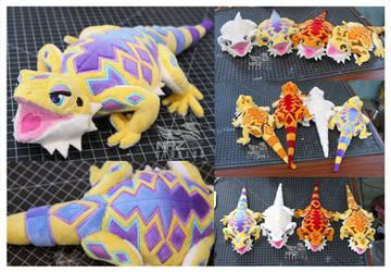 Bearded dragon plush (and pattern)