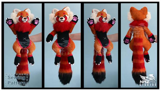 Red Panda Plush and sewing pattern