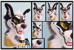 Dapper Dog fursuit head