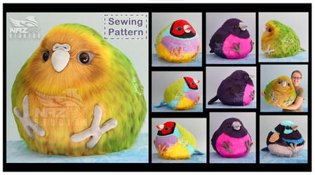 Borb plush and sewing pattern