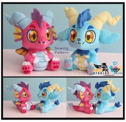 Chibi Dragon Sewing pattern