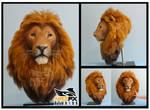 Faux lion taxidermy