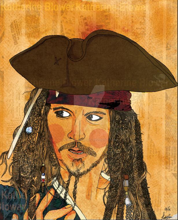 Captain Jack Sparrow by bohemiananimegirl