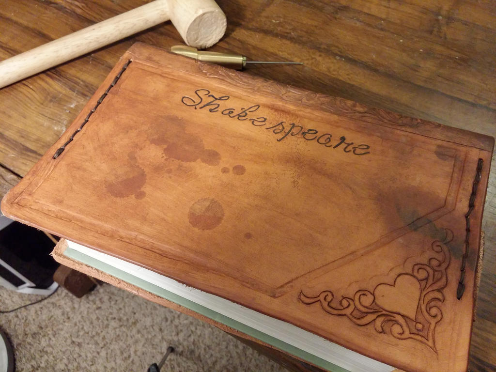 Hand-Bound Antiqued Shakespeare Collection. by danjutsu
