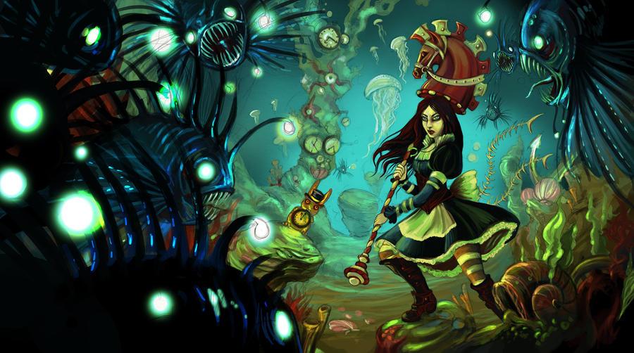Alice madess return fan art by zibidulle