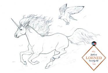 Licorne Et Faucon by zibidulle