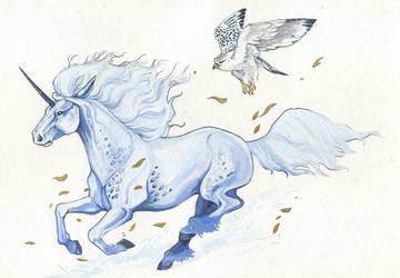 Licorne Faucon by zibidulle
