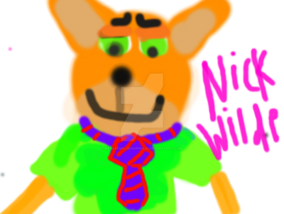 Nick Wilde Digital Art by real69wildehopps420