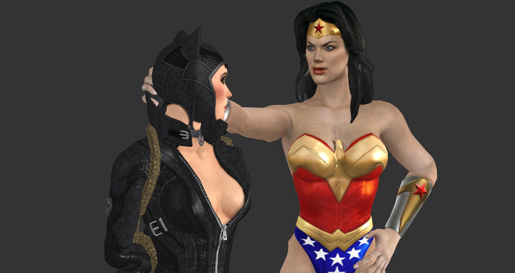 Wonder Woman captures Catwoman 6 by TinOmenOgre