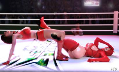 Reiko Hinomoto Vs Evil Rose by Tin0men