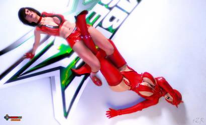 Reiko Hinomoto Vs Evil Rose 2 by Tin0men