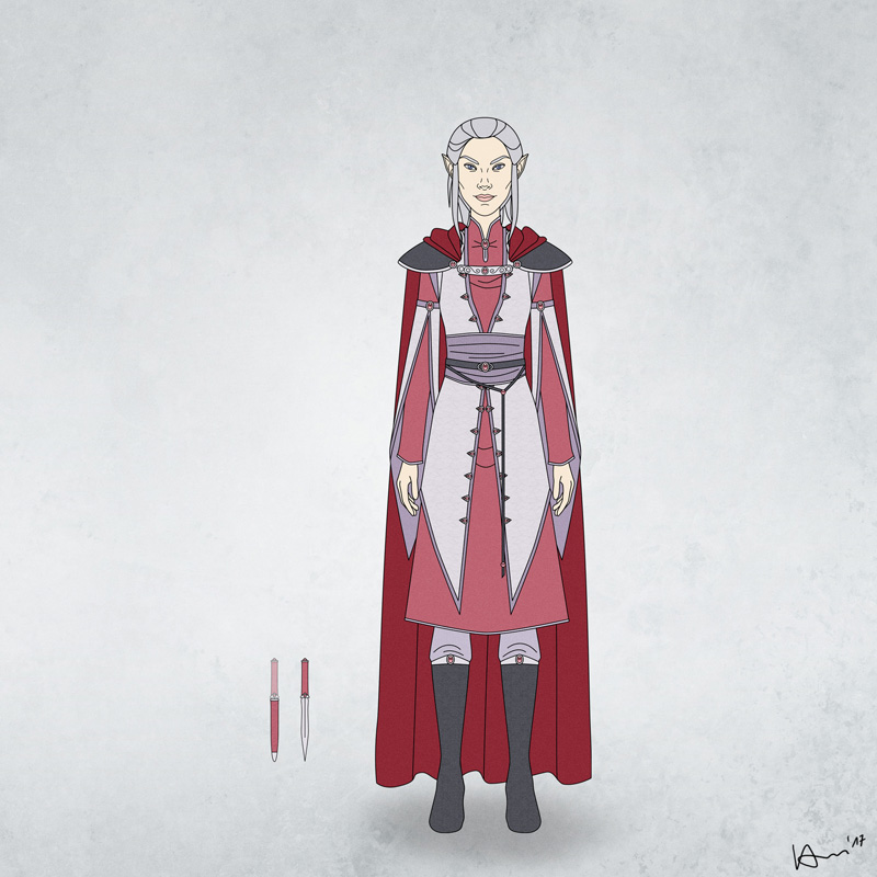 Niavenn's Clothes and Weapons by karchew