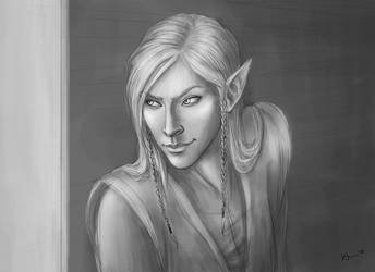 Sneaky Elf by karchew