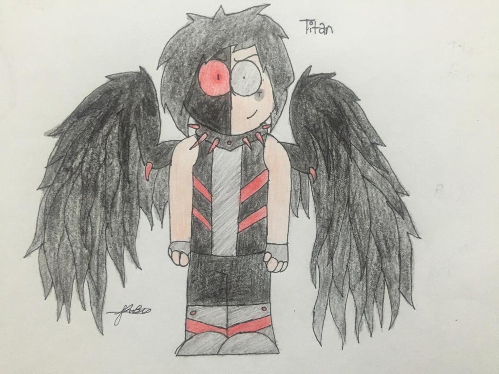 Titan - dark/fallen angel by Lifeistrange