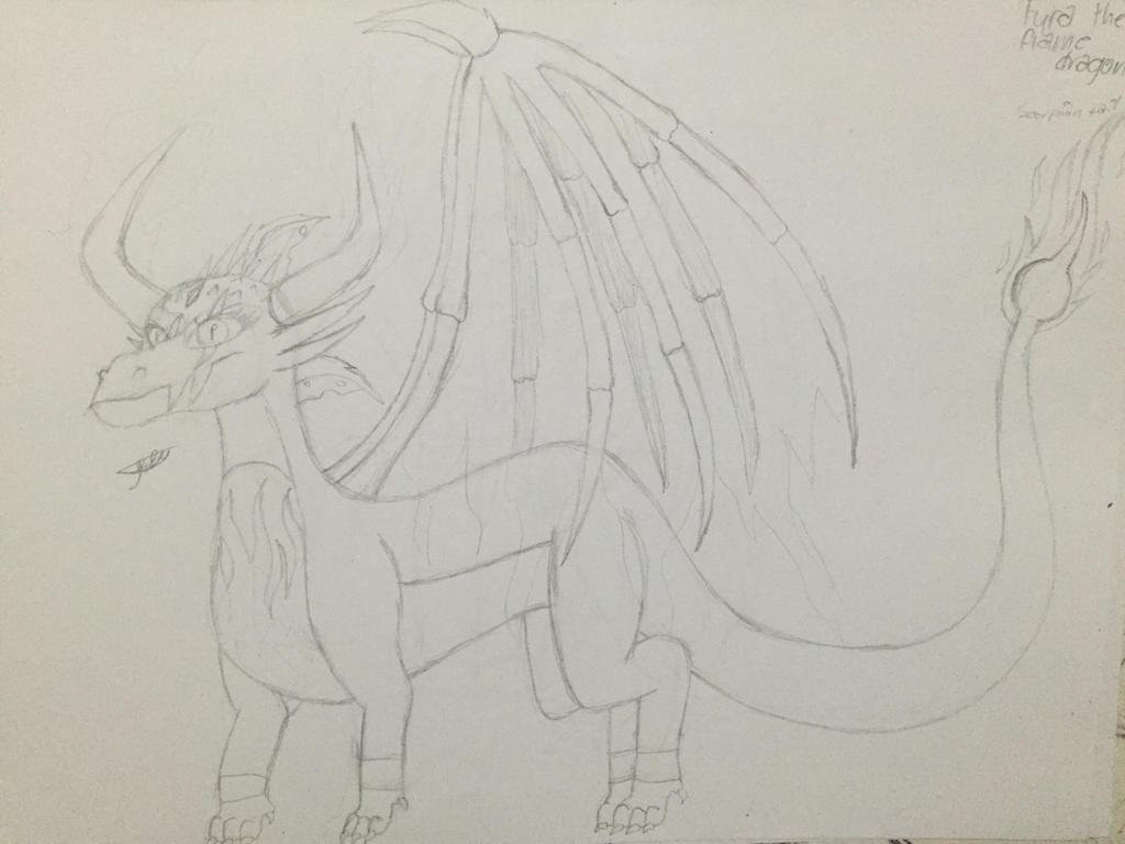 Fyra (dragon form) (unfinished) by Lifeistrange