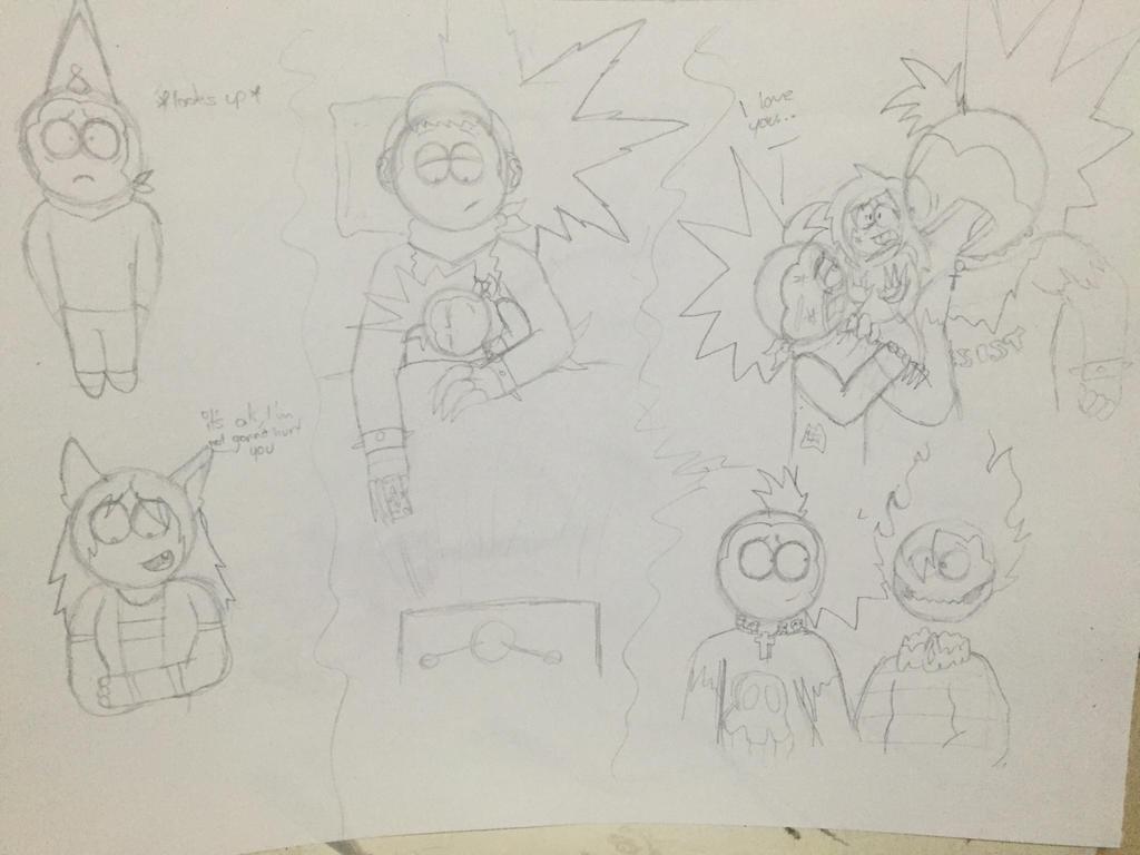 Deathazen sketches by Lifeistrange