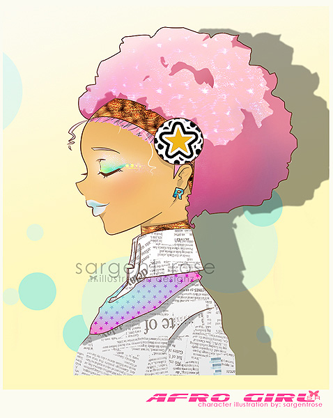 Afro girl by lovepapier