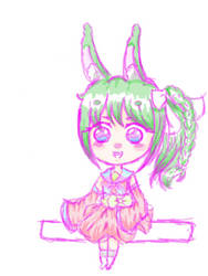 Melonny the Watermelon Biscotti Bunny by HarmonyWind