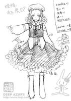 Costume design for BJD by toiji