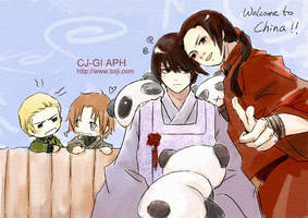 Hetalia-Welcome to China Japan by toiji