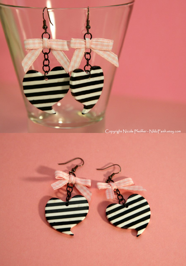 Earrings: Punk Baby in Pink by nikkifaith