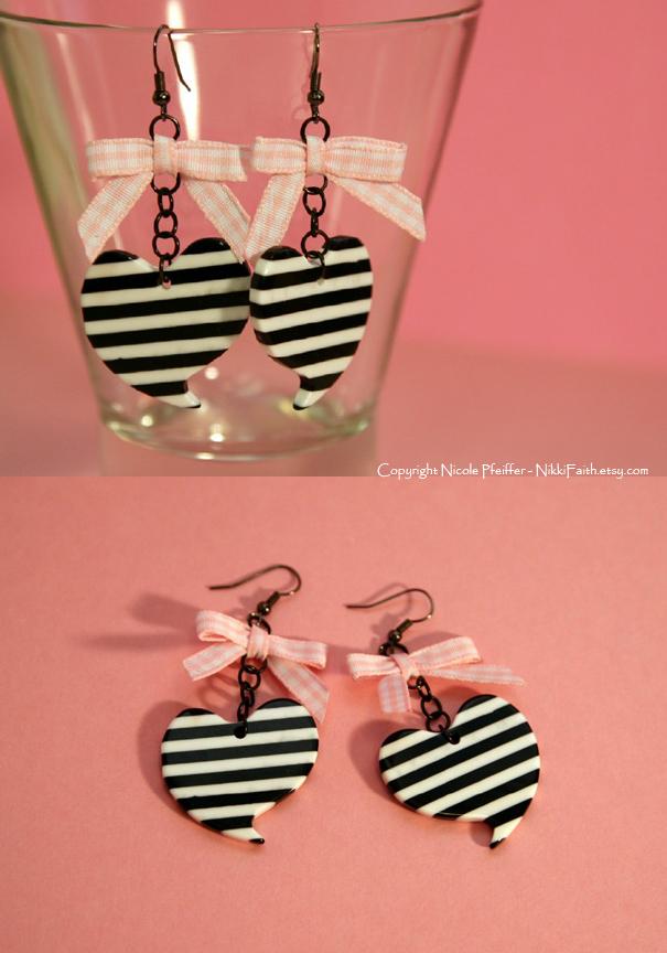 Earrings: Punk Baby in Pink by nikkifaith