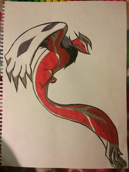Shiny Yveltal in Ink