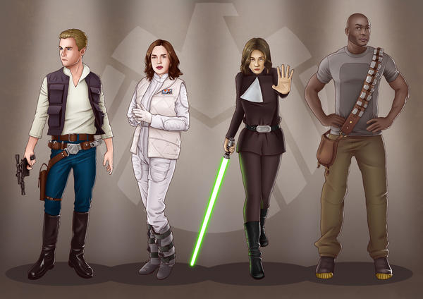 A Galaxy Far Away - Agents of SHIELD by eclecticmuse